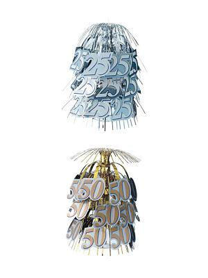 Tischkaskade Dekoration Jubiläum Hochzeit Zahl