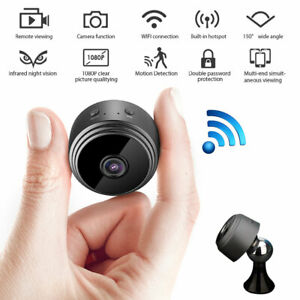 MINI-Camera-IP-Sans-fil-Wifi-1080P-HD-Espion-Camescope-Cache-Vision-Nocturne