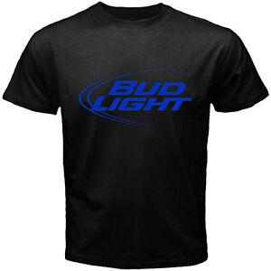 Details about new Bud Light Logo Men's Black T Shirt Size S M L XL 2XL 3XL  Beer