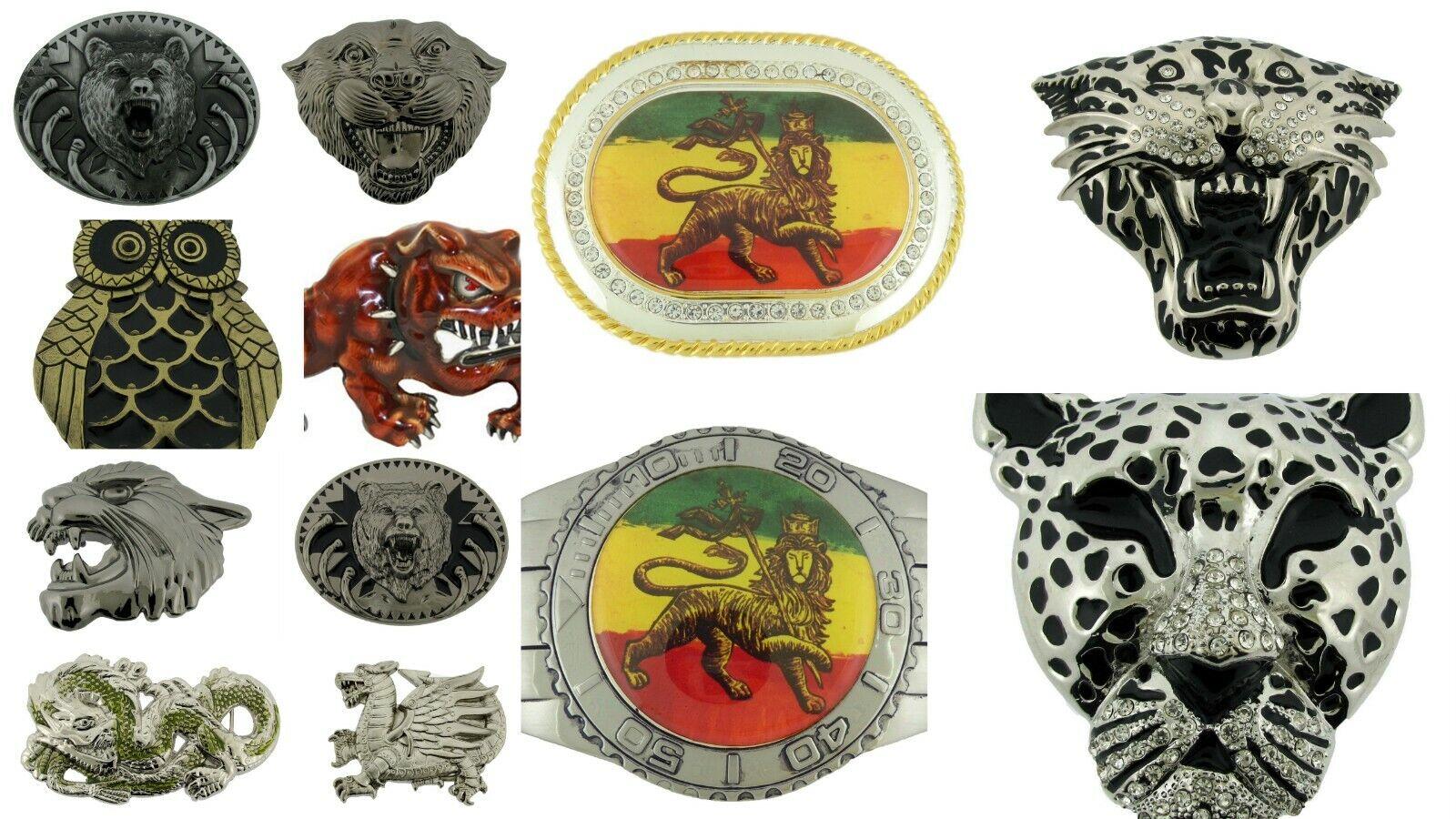 12 PC Tier Gürtelschnalle Tiger Schlange Löwe Judah Großhandel Viel Wolf Eule