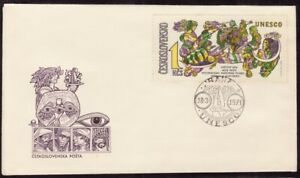 CZECHOSLOVAKIA-1971-UNESCO-1kcs-Sc-1749-only-FDC-unaddressed-D8689
