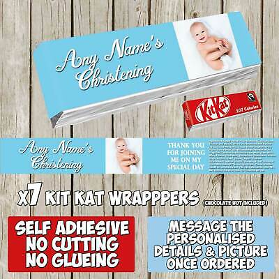 14 x Create Your Own Personalised Self Adhesive KitKat Chocolate Wrapper K000