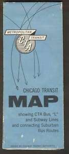 Details about USA Chicago Transit Map CTA Bus