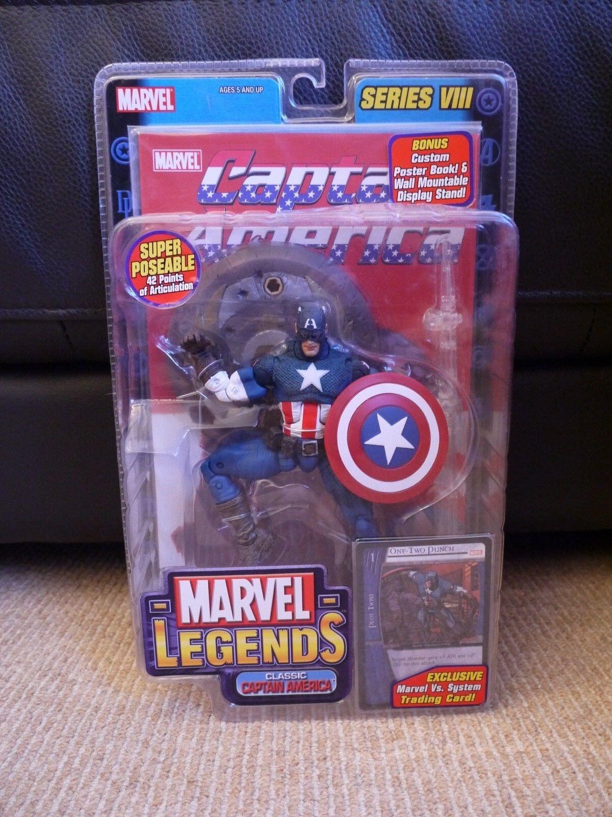 Marvel Legends SERIES VIII 8 Classic Captain America avec ailes variante Toy Biz