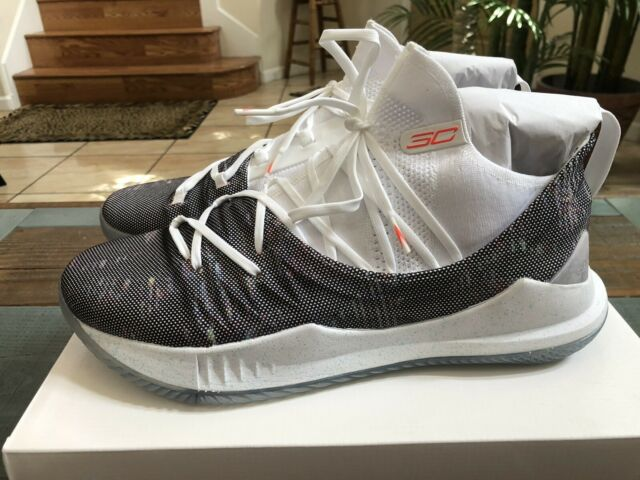 9e064210f9fc Under Armour Curry 5 Welcome Home White Neon Coral 3020657-107 UA Mens Size  13 for sale online