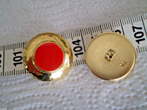 2 Coat Buttons Golden /& Paint corallenrot Matt Boutons Buttons Botones düğmeleri