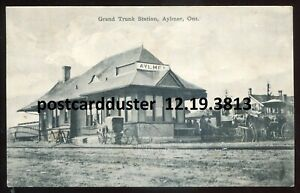 3813-AYLMER-Ontario-1911-GTR-Railway-Train-Station-by-Rumsey