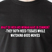 What Do Men And Woman Have In Common? They Both Need Tissues Retro Funny T-shirt