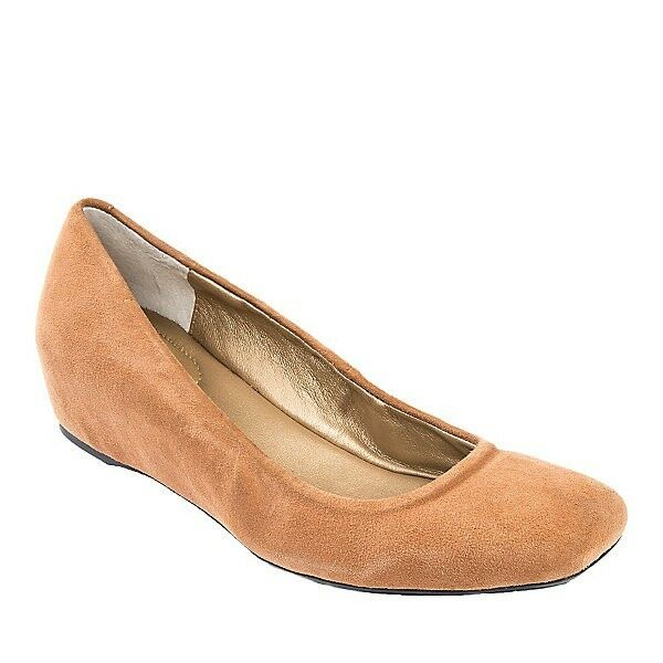 REDUCED Me Too JANA Almond Suede Wedge Memory Foam Flexible Comfort Shoe 11M $89