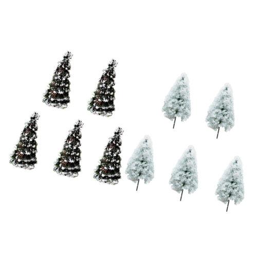 10pcs Micro Landscape Mini Miniature Resin Craft Christmas Tree Garden Decor