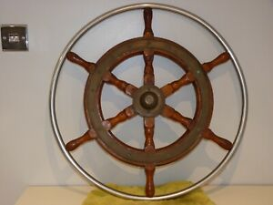 "Vintage 25"" Original SIMPSON LAWRENCE Ships Wheel Maritime Marine Boat Nautical"