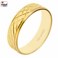 NEW Men's Women's 6 MM Stainless Steel Wedding Band Classic Matte CUT Ring