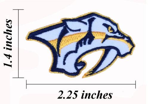 """Nashville Predators Brodé Taille 2.25/"""" Iron On Patch."""