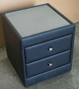 CALI-BEDSIDE-TABLE-2-DRAWER-PU-LEATHER-MATT-BLACK-COLOUR-FINISH