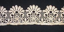 khaki stone gold braid beaded tuile lace bridal wedding dress prom trim veil net