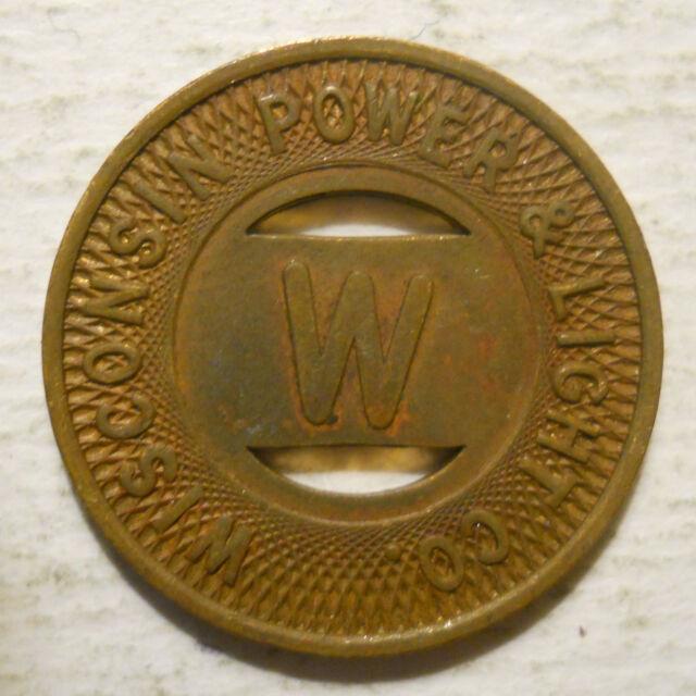 WI790N transit token Wisconsin Sheboygan Transit