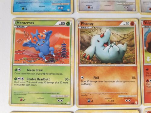 HGSS Heart Gold Soul Silver base set Uncommon and Common Pokemon Cards 2010
