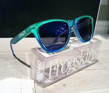 NIB Oakley FROGSKINS MARINE Fade Blue-Green/Blue Iridium Sunglasses 24-237 RARE