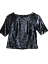 Top-Shop-Ladies-Black-Sequin-Sparkly-Crop-Top-Party-Evening-Size-10-BNWT thumbnail 1