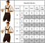 Men 3PCS Geman Oktoberfest Shirt Overall Hat Outfit Party Fancy Dress Costume