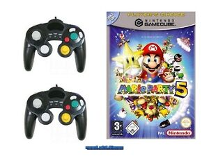 ## Mario Party 5 + 2 Control Pads (Deutsch) Nintendo GameCube Spiel - TOP ##
