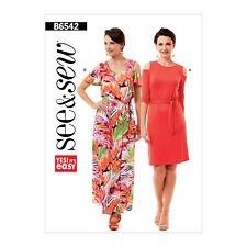 32908bd58b Butterick 6542 Easy Sewing Pattern to MAKE Cold Shoulder Dresses See & Sew  ...