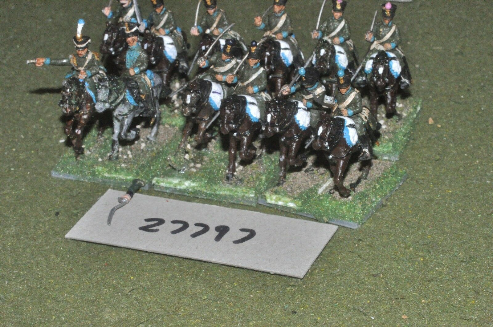 25mm napoleonic   french - light (plastic) 12 figures - cav (27797)
