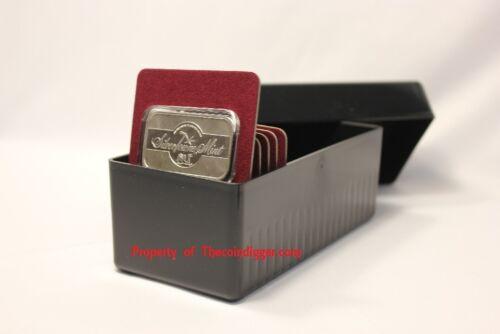 1 Air-tite Storage Box 20 Coin Holder Capsule Display Card BLACK 1oz Silver BAR