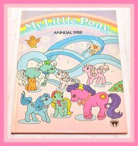 My-Little-Pony-G1-Merchandise-VTG-1988-Annual-Hardcover-Book-Fireball