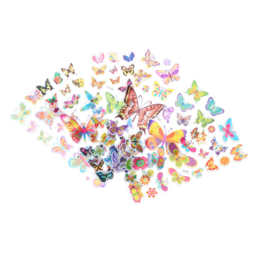 6 Sheets Lovely Butterfly Scrapbooking Bubble Puffy Stickers Reward Kids Toys JF