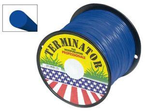 Filo-Decespugliatore-3-mm-Bobina-Tondo-Nylon-mt-250-Terminator-Blu