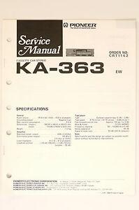 pioneer ka 363 original cassette car stereo service manual. Black Bedroom Furniture Sets. Home Design Ideas