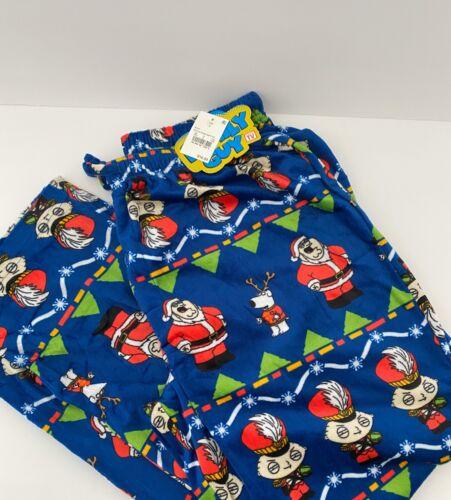 Family Guy Christmas Men's Pajama Fleece Pants Multicolor Size L Large