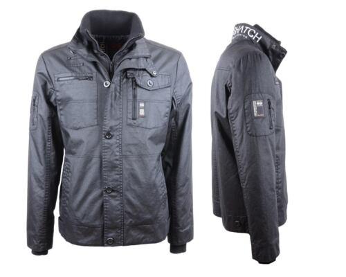 New Mens Crosshatch Wax Coated Quilted Lined Winter Jacket Double Zip Coat s-xxl