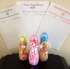 Baby Shower Games Bundle - Guess Sweets in the Bottle//Mums Tum/Weight & Date