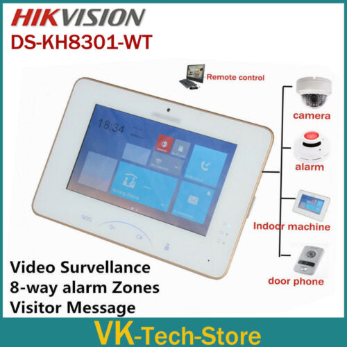 Hikvision 7/'/' color Touch Screen Video Intercom DS-KH8301-WT Support IP Cameras