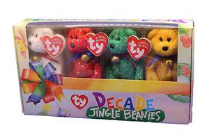 Set of 4 TY Decade Jingle Beanies