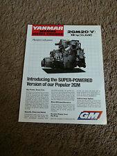 Yanmar Marine Diesel Engine 2GM20 2GM20V Dealer Sales Brochure Specifications
