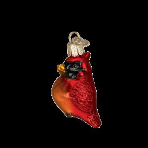 Old-World-Christmas-MINI-CARDINAL-16080-N-Glass-Ornament-w-OWC-Box
