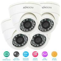 Kkmoon 4pcs 800tvl Security Kit Ir-cut Cctv Cameras With 4x 18m Video Cable Z2g6 on sale