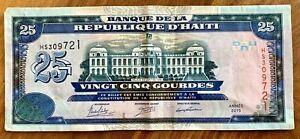 HAITI-2015-25-GOURDES-BANKNOTE-E-F-Cond