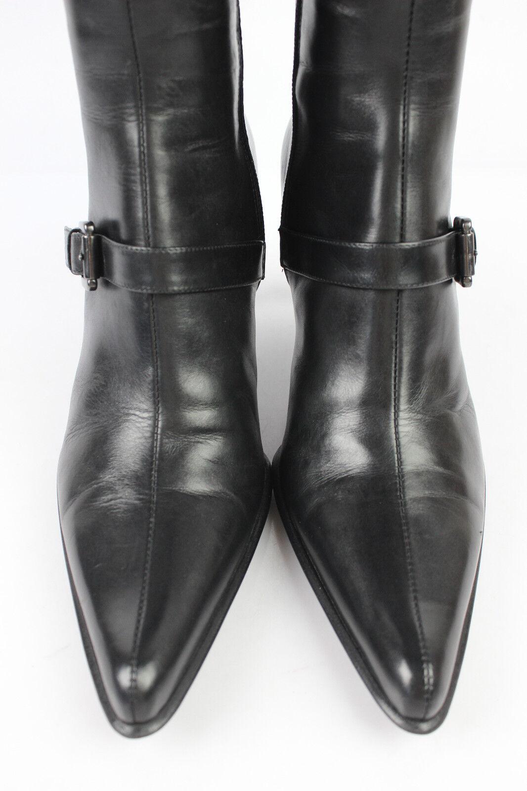 Zapatos especiales con descuento Mi bottes Sciuscia VENUE D'AILLEURS Cuir Noir T 38 TRES BON ETAT