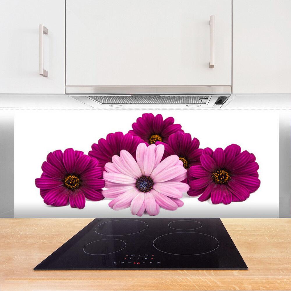 Crédence de cuisine en verre Panneau 125x50 Floral Fleurs Fleurs Fleurs 4f5f7c