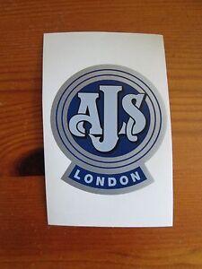 AJS motorcycle sticker - Barnsley, United Kingdom - AJS motorcycle sticker - Barnsley, United Kingdom