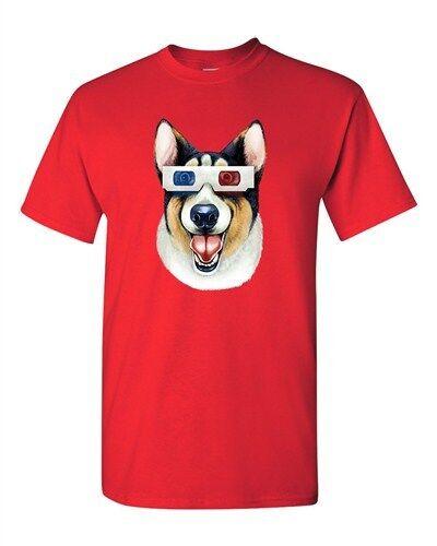 Corgi 3D Glass Dog Animal Lover Tanya Ramsey Artworks Art DT Adult T-Shirts Tee