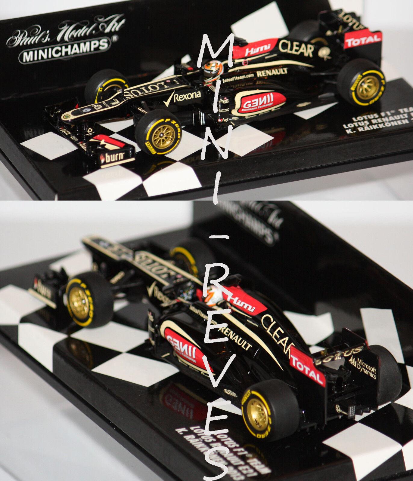 Minichamps F1 Lotus Renault E21 Showvoiture  2013 K. Raikkonen 1 43 410130007  magasin discount