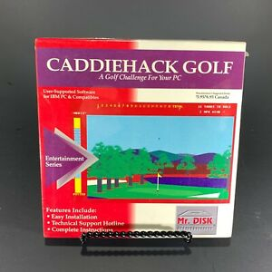 Caddiehack-Golf-Vintage-IBM-PC-Game-New-Sealed-Free-Shipping