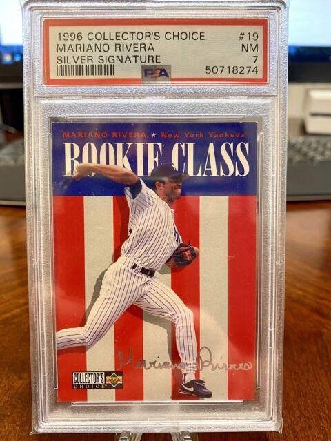 1996 Collector's Choice MARIANO RIVERA Silver Signature PSA 7 Yankees POP 3 💎