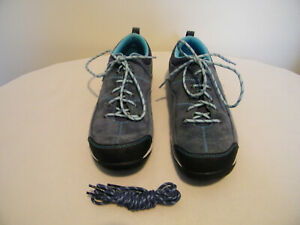 ll bean womans sport lace up mariner blue suede walking