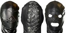 Real leather mask leder hood gimp cuir mask slave kink restraint halloween gift